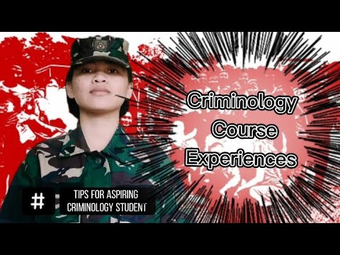 My Criminology Course Experience  (Tips for aspiring criminology student)