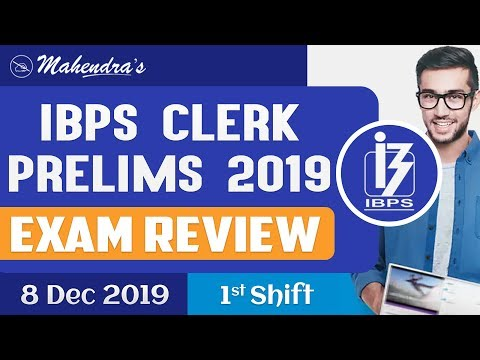 IBPS Clerk Prelims 2019 | Exam Review | Shift 1 | 8.12.2019 | Asked Questions & Expected Cut-Offs