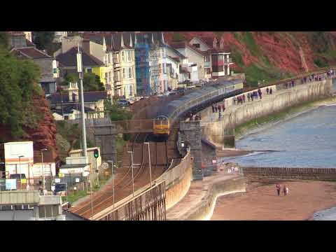 50007 & 50049 head along Dawlish Warren with 'The Torbay & D…