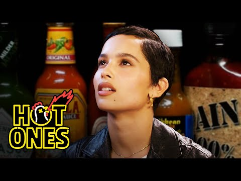 Zoë Kravitz Gets Trippy While Eating Spicy Wings | Hot Ones