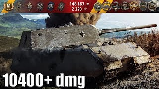 Maus 10400+ dmg медаль Колобанова 🌟🌟🌟 World of Tanks лучший бой