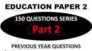 PART 2 Education paper 2 NTA UGC NET EXAM