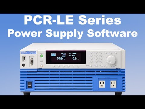 Video of Kikusui PCR-LE AC Power Supply Software Overview
