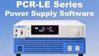 Kikusui PCR-LE AC Power Supply Software Overview