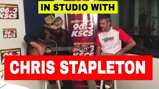 "Chris Stapleton performing ""If It Hadn't Been For Love"" in the KSCS Studio"