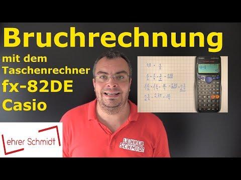 Bruchrechnung mit dem Taschenrechner fx-82DE (Casio) | Lehrerschmidt