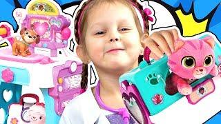 ДОКТОР ПЛЮШЕВА Мобильная Клиника для Животных Врач Ветеринар Делаем кардиограмму, рентген Kids Video