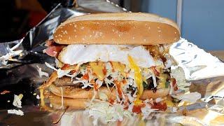 치즈 계란 대왕 버거 / cheese egg giant burger / korean street food