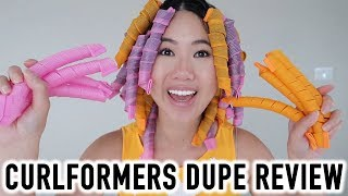 Best Heatless Hair Curlers? CurlFormers Dupe Review, Tutorial & Demo