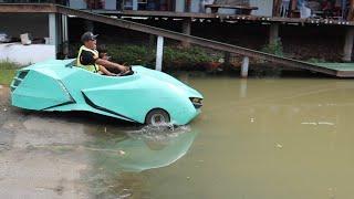 ขับรถสปอร์ตหรู เที่ยวตลาดน้ำพัทยา | CLASSIC NU
