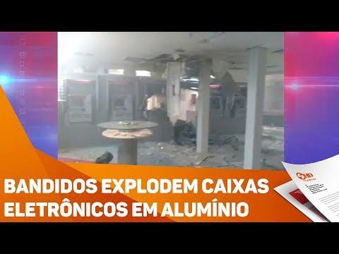 Bandidos explodem caixas eletrônicos em Alumínio - TV SOROCABA/SBT
