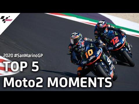 Moto2 サンマリノGP 気になるレースシーンTOP5を集めたレースハイライト動画