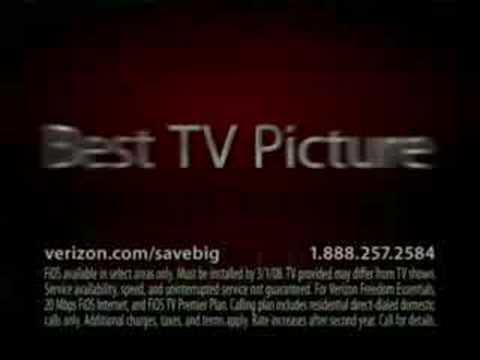 Verizon Commercial for Verizon FiOS (2008) (Television Commercial)