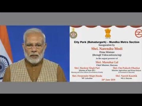 PM Modi inaugurates Delhi Metro's Mundka-Bahadurgarh Corridor via Video Conference