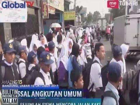 Mogok Angkutan Umum di Bandung Membuat Para Siswa Sekolah Terlantar - BIM 10/10
