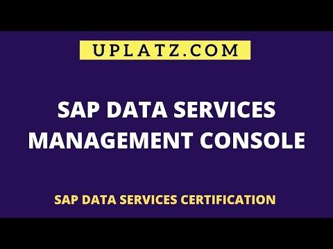 SAP Data Services Management Console   SAP BODS Training ...