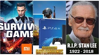 Gaming News : Pubg Now Available On Ps4 | Xiaomi Survival Game Beta apk Out | Stan Lee RIP