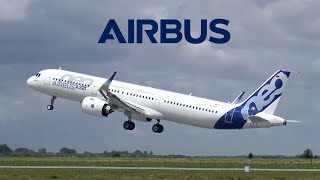 Airbus A321NEO Test Flights in Strong Winds | Takeoffs, Landings, Touch-and-Gos