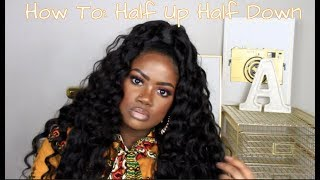 How To Do Half Up Half Down With Half Wig Free Online Videos Best