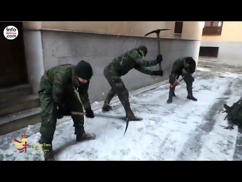 Más de 1.500 militares han hecho frente a la borrasca Filomena y a la ola de frío