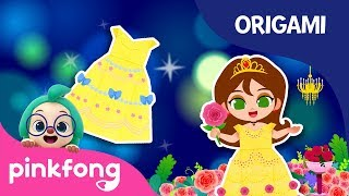 Beauty and the Beast: Belle's Dress | Origami | Princess Songs | Pinkfong Crafts for Children