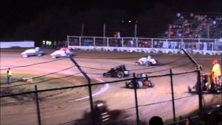 Creek County Speedway Non Wing Champ Sprints A-Main 9/20/14