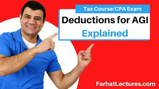 Deductions for AGI   Deductions From AGI   Tax  Cuts and Jobs Act   Income Tax course   CPA exam REG