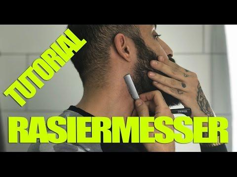 Bart Konturen rasieren mit Rasiermesser/Shavette   TUTORIAL   BARTMANN