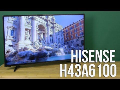 Распаковка Hisense H43A6100