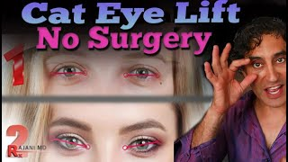 CAT EYE LIFT // Cat Eye Without Surgery