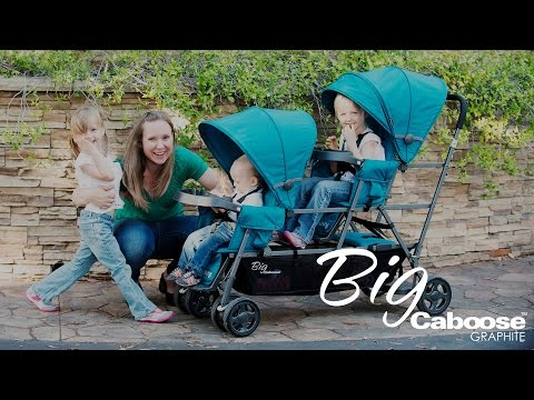 Joovy Big Caboose Graphite Stand-on Tandem Stroller