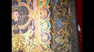 preview picture of video 'Mahakala Thangka Art Gold Plated'