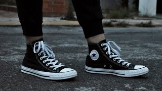 Converse all star chuck taylor unboxing & on feet Español