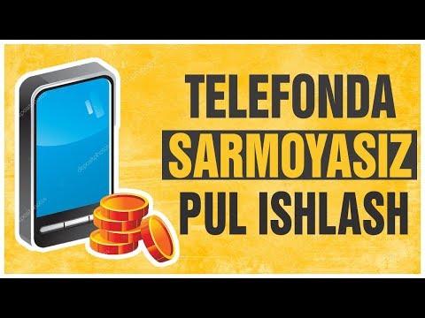 TELEFONDA SARMOYASIZ PUL ISHLASH/BOMBA DASTUR