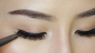 How to Apply False Eyelashes For Beginners - Video Youtube