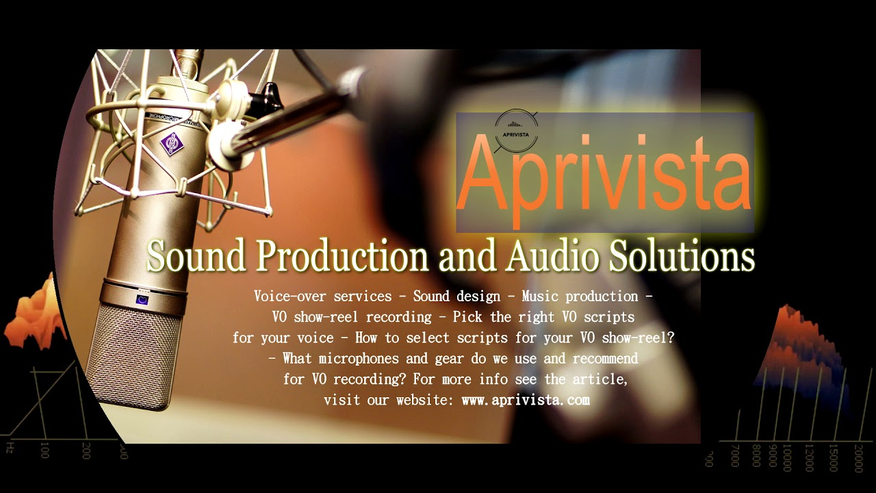 Aprivista promotion video - voice-over, sound design and music production