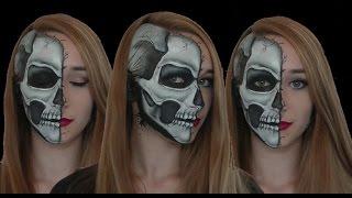 Half Skull Face Art Tutorial
