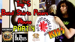 Top 5 Metal/Rock Band T-Shirts Posers Wear PART 4