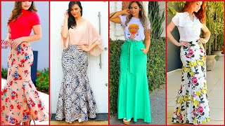 Most Attractive Floral Skirts Outfit Designs Fabulous Long Mermaid Style Flared Skirts Outfits Ideas