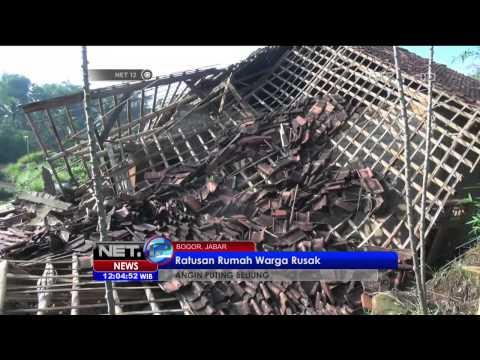 Ratusan Rumah Warga di Bogor Akibat Angin Puting Beliung - NEt12