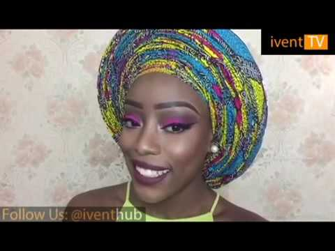 How to tie Infinity pleat Ankara gele by Christiana's Closet