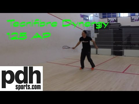 Review of the new Tecnifibre Dynergy 125 AP squash racket by PDHSports.com