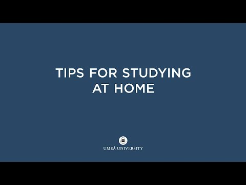 Film: Tips for studying at home