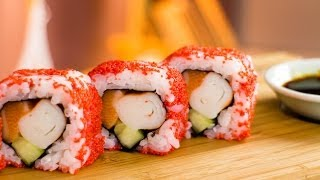 Raspberry Masago Sushi Roll – Recipe