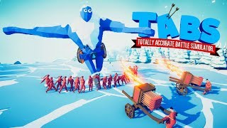 Dynasty Faction Destroys The Secret Ice Giant in Totally Accurate Battle Simulator (TABS)