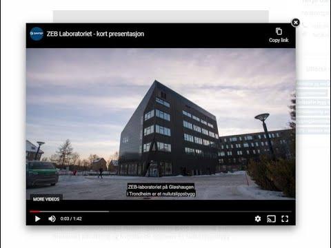 Dette er ZEB Laboratoriet (lang videopresentasjon lengre ned på siden)