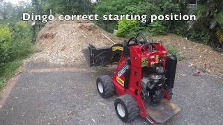 How to use a dingo - mini loader - operating instructions - dingo in use