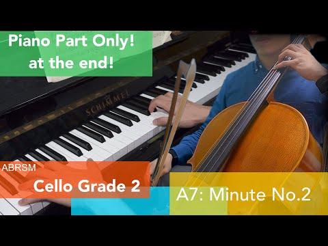 大提琴考試歌曲,可以連伴奏一齊練習