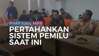 Bicarakan Sistem Pemilu, Pimpinan MPR Masih Pertahankan Sistem Pemilu saat Ini