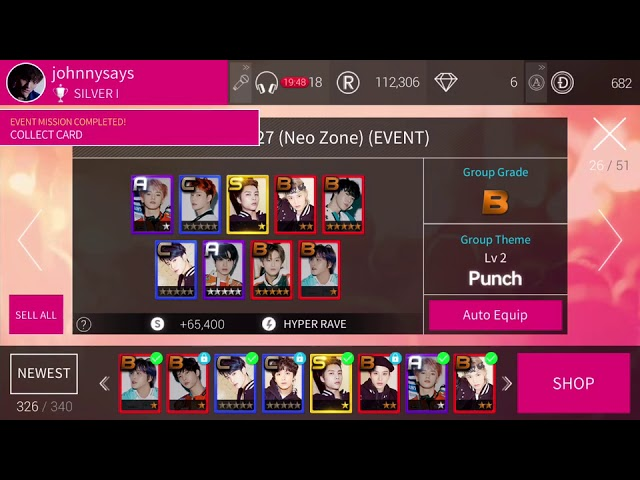 [SUPERSTAR SMTOWN] Collect NCT 127's Punch + Bomb Cards Part 2 💛